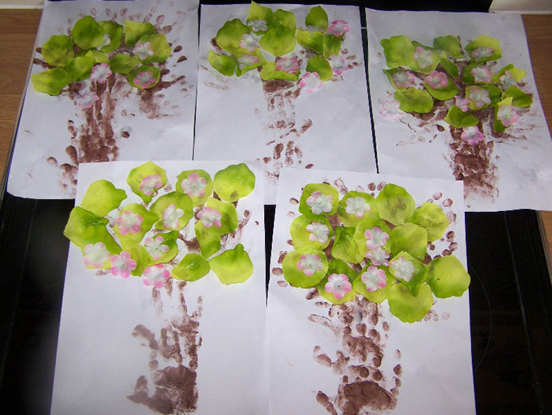 Hand printing trees